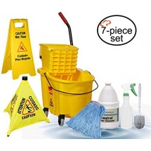 TigerChef Commercial Grade Housekeeping Janitorial Set - 7 pcs