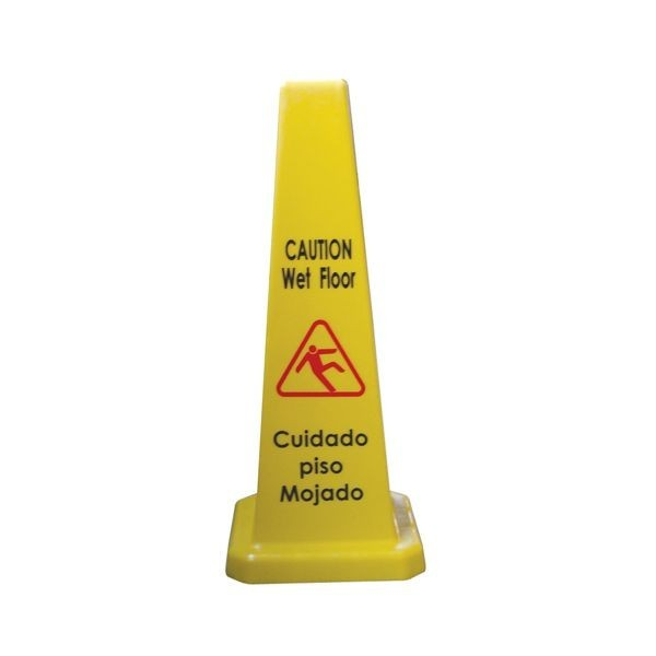 "TigerChef Cone Shape Caution Sign 27"" - 4 Pack"