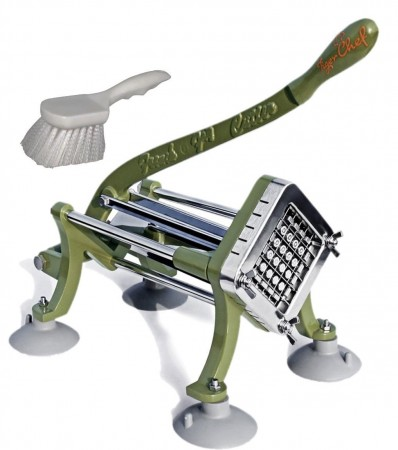 """TigerChef French Fry Cutter 1/2"""" with Suction Feet and Cleaning Brush"""