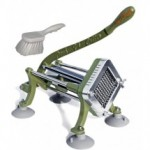"TigerChef French Fry Cutter 1/4"" - Includes Suction Feet and Cleaning Brush"