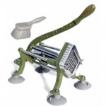 "TigerChef French Fry Cutter 3/8"" - Includes Suction Feet and Cleaning Brush"