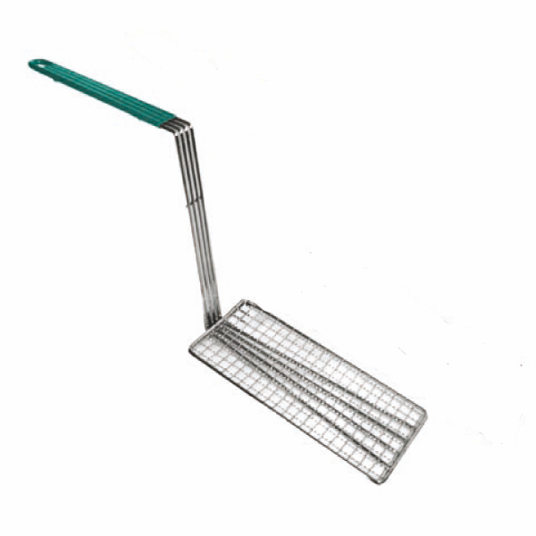 "TigerChef Fry Basket Press With Green Handle 4-3/4""  x 10-3/4"""