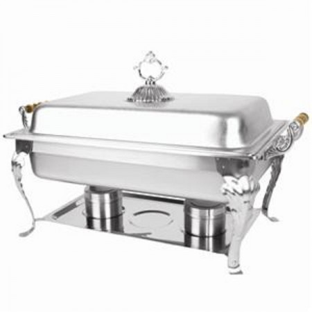 TigerChef Full Size Rectangular Deluxe Chafer 8 Qt.