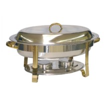 TigerChef Gold Accented Oval Chafer 6 Qt.