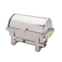 TigerChef Gold Accented Roll Top Chafer 8 Qt.
