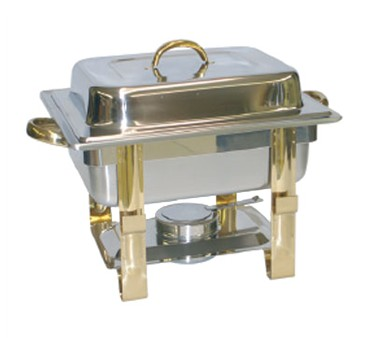 Tigerchef Gold Accented Half Size Chafer 4 Qt