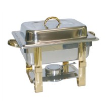 TigerChef Gold Accented Square Chafer 4 Qt.