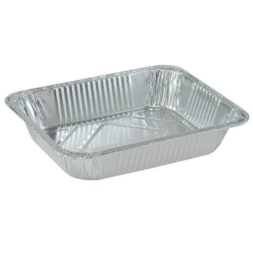 TigerChef Half Size Aluminum Foil Steam Table Pans - 50 pcs
