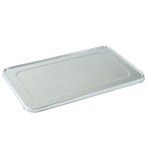 TigerChef Half Size Aluminum Foil Steam Table Pan Lids - 100/Case