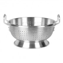 TigerChef Heavy Duty Aluminum Colander with Handles 12 Qt.