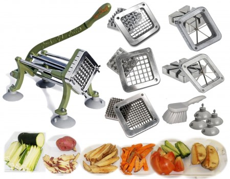 TigerChef Heavy Duty French Fry Cutter Complete Set
