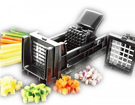 TigerChef Manual French Fry and Vegetable Dicer with 2 Blades