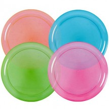 "TigerChef Neon Party Plates 9"" - 8 pcs"