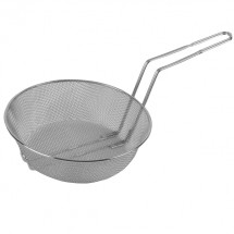 TigerChef Nickel-Plated Round Fine Mesh Culinary Basket 10""