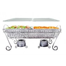 TigerChef Full Size Ornate Disposable Chafing Dish Set - 11 pcs