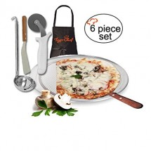TigerChef Pizza Making Kit, Choose a Pizza Pan Size - 6 pcs