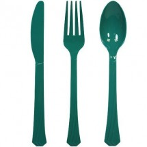 TigerChef Plastic Cutlery Set, Set of 24, Available in 17 Colors