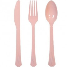 TigerChef Plastic Cutlery Set, Set of 576, Available in 16 Colors