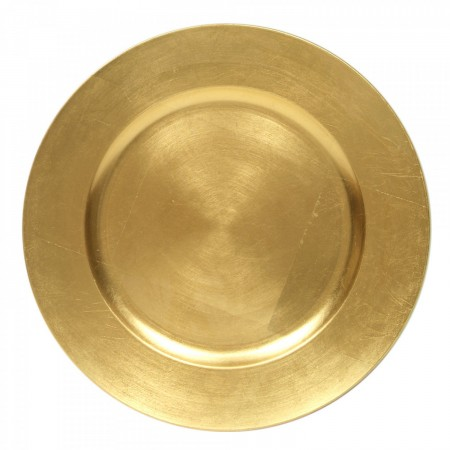 TigerChef Round Gold Charger Plate 13""