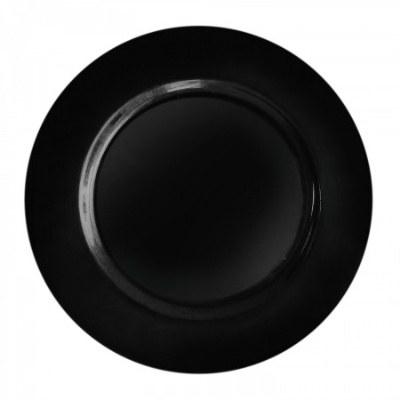 TigerChef Round Black Melamine Charger Plate 13""