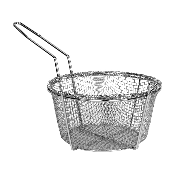 TigerChef Round Mesh Wire Fry Basket 9""
