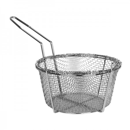 TigerChef Round Mesh Wire Fry Basket 11""