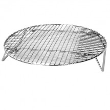 TigerChef Round Nickel-Plated Steam Rack 17-3/4""
