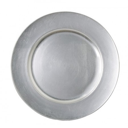 """TigerChef Round Silver Charger Plate 13"""""""