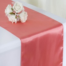 """TigerChef Satin Table Runner 12"""" x 108"""" - 18 Colors, 3 Pack"""