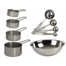TigerChef-Stainless-Steel-9-Piece-Baking-Measuring-Set