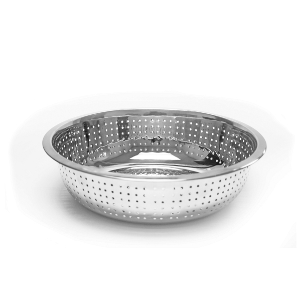 TigerChef Stainless Steel Chinese Colander with Small Holes 11""