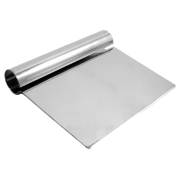 TigerChef Stainless Steel Dough Scraper 5-1/4""