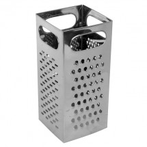 TigerChef Stainless Steel 4-Sided Box Grater 4""