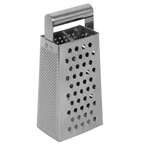 TigerChef Stainless Steel 4-Sided Box Grater with Handle