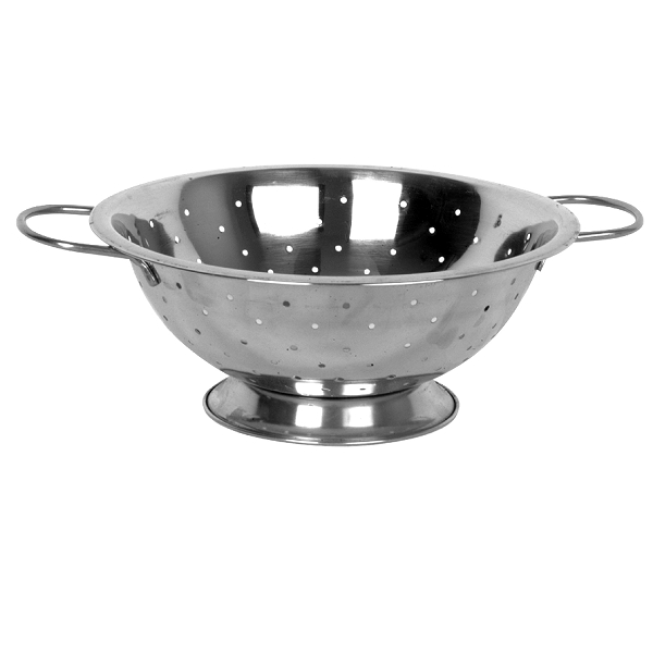 TigerChef Stainless Steel Colander with Base and Handles 8 Qt.
