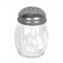TigerChef Swirl Glass Cheese Shaker with Perforated Top 6 oz.