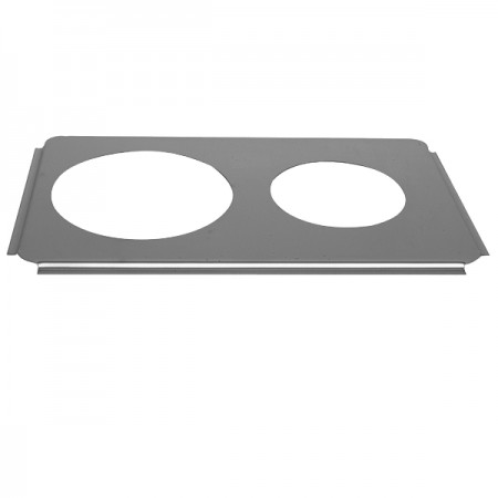"""TigerChef Two 6-1/2"""" Holes Steam Table Adaptor Plate"""