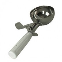 TigerChef 5-1/3 oz Stainless Steel Disher with White Handle