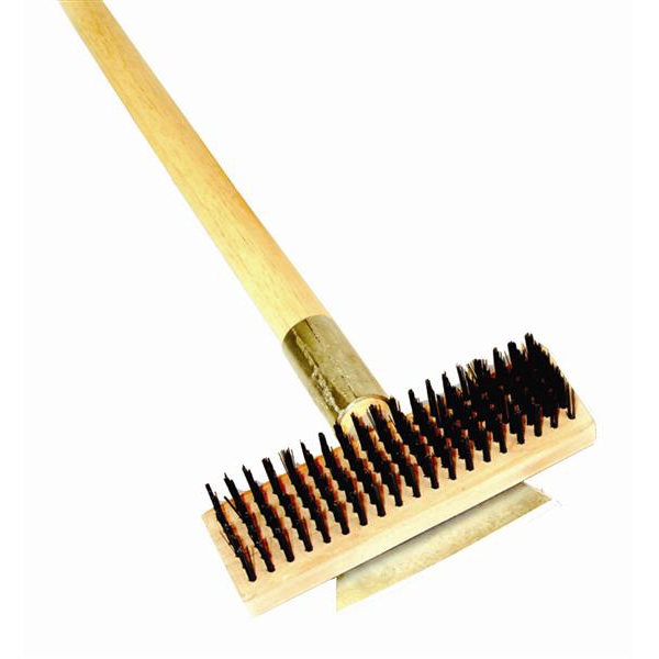 TigerChef Single Head Wire Grill Cleaning Brush with Scraper 27""