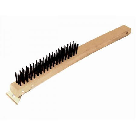 """TigerChef Wire Grill Oven Cleaning Brush with Scraper 14"""""""