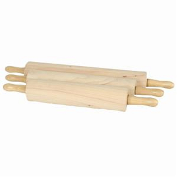 TigerChef WDRNP018 Wood Rolling Pin 18""