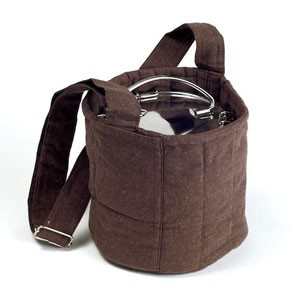 To Go Ware TGW107 Brown 2-Tier Cotton Carrier Bag