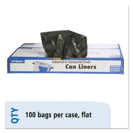 Total Recycled Content Plastic Trash Bags, 60 gal, 1.5 mil, 38