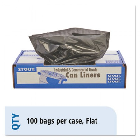 Total Recycled Content Plastic Trash Bags, 65 gal, 1.5 mil, 50