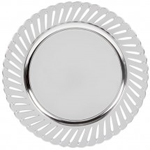 """The Jay Companies 1270251-4 Round Silver Track Charger Plate 13"""""""