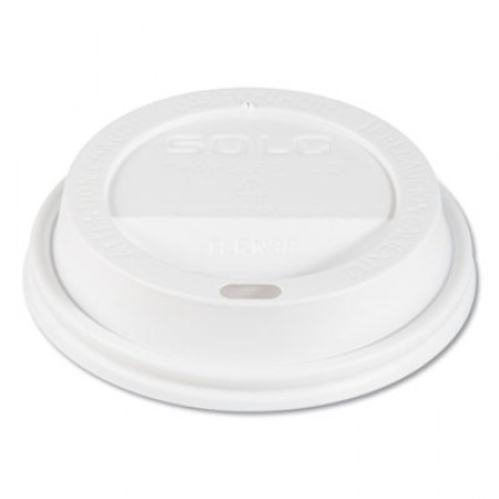 Traveler Cappuccino Style Dome Lid, Fits 10oz Cups, White, 100/Pack, 10 Packs/Carton