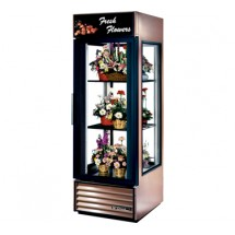 True G4SM-23FC-LD Four Sided Glass Door Floral Merchandiser 23 Cu Ft