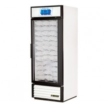 True GDIM-26NT 26 Cu Ft One-Section Glass Door Ice Merchandiser