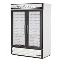 True GDIM-49NT 49 Cu Ft Two-Section Glass Door Ice Merchandiser