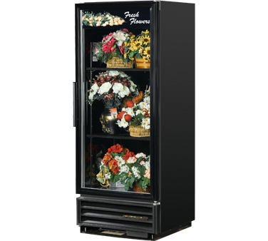 True GDM-12FC-LD One-Section Glass Door Floral Merchandiser 12 Cu Ft